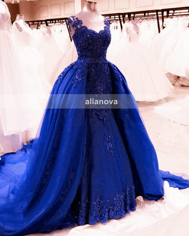 Royal Blue Mermaid Dress 2020