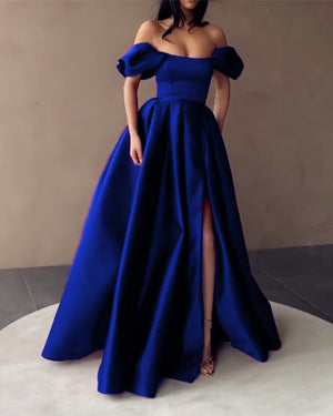 Royal Blue Prom Dresses Off The Shoulder