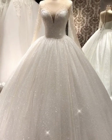 Image of Sparkle Wedding Dress Ball Gown