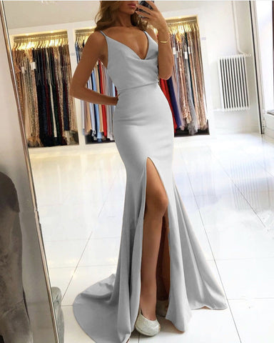 Silver Mermaid Bridesmaid Dresses