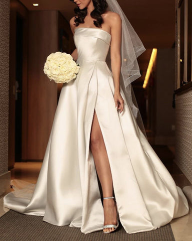 Image of Satin Wedding Dress