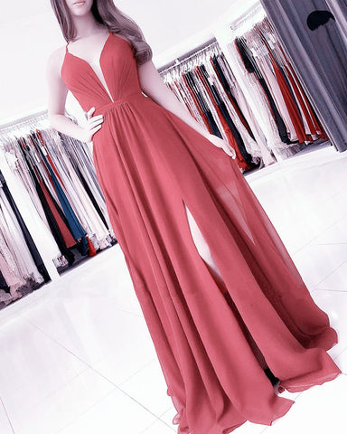 Terracotta Bridesmaid Dresses Long