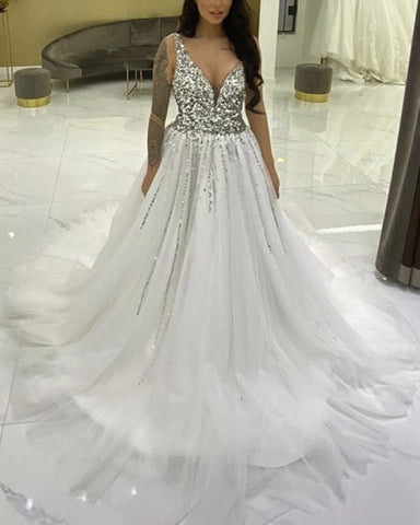 Image of Wedding Dress With Sparkles