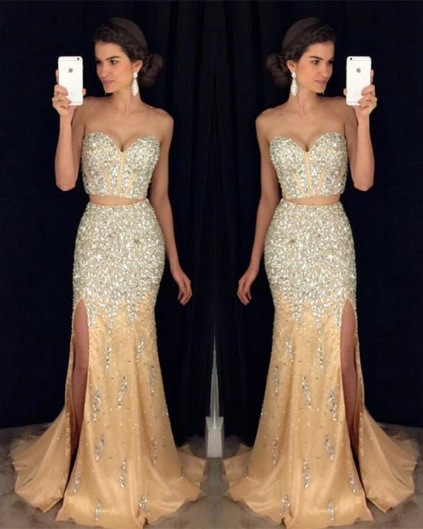 Two Piece Prom Dresses Mermaid