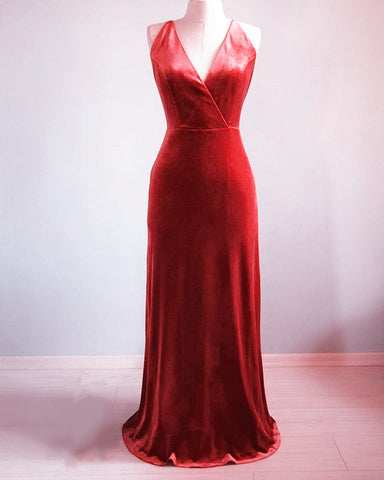 Image of V Neck Bridesmaid Dresses
