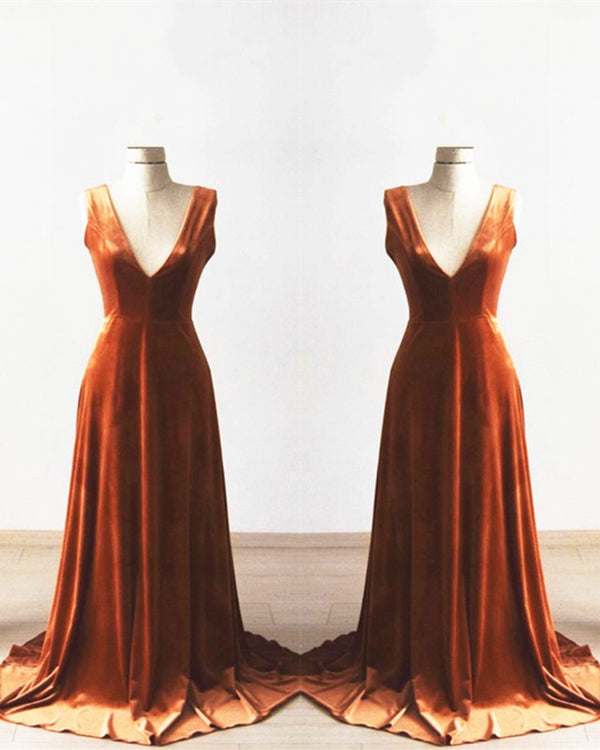 Velvet Bridesmaid Dresses Long