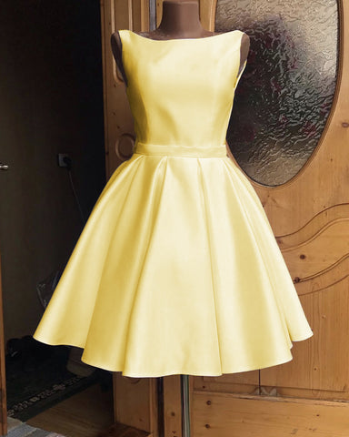 Image of Yellow Homecoming Dresses 2019