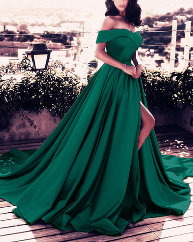 alinanova 7008 Evening Dresses Green
