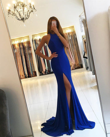 Image of Royal-Blue-Mermaid-Dresses