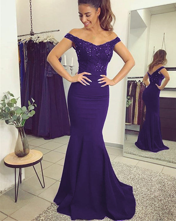 alinanova 7013 Prom Dresses Purple