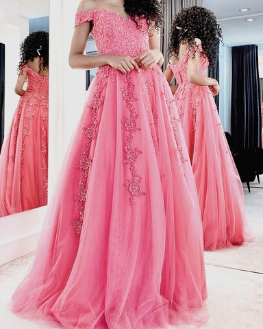 Image of Blush Pink Prom Dresses 2021
