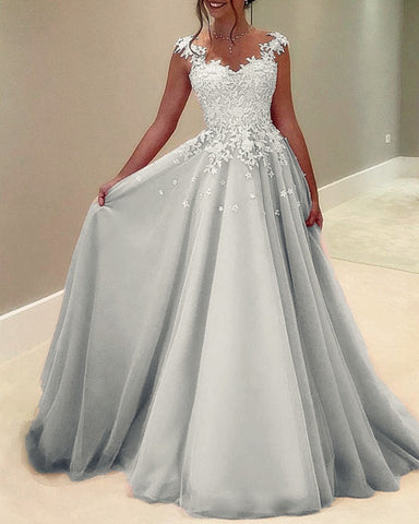 Image of Silver Prom Dresses 2021