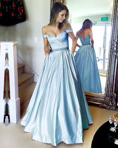Image of Baby-Blue-Prom-Dress