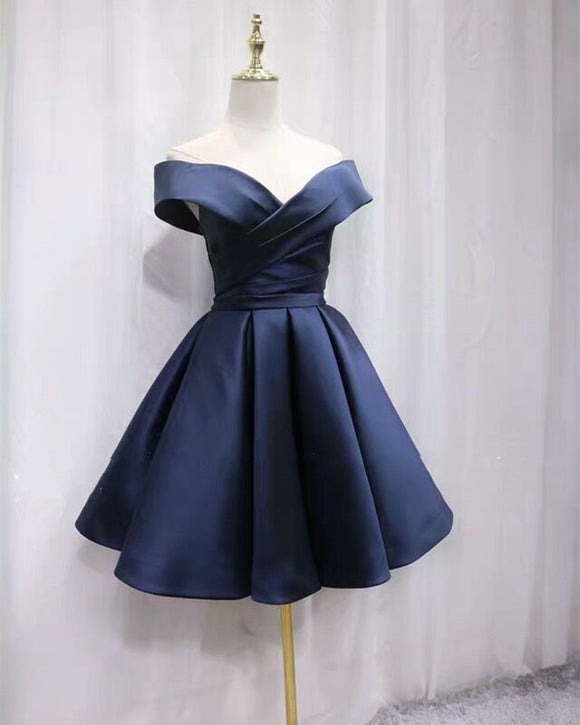 Dark-Blue-Homecoming-Dresses-Off-Shoulder