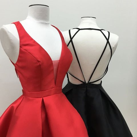 Image of Women's Strappy Back Homecoming Dresses Short Prom Gowns