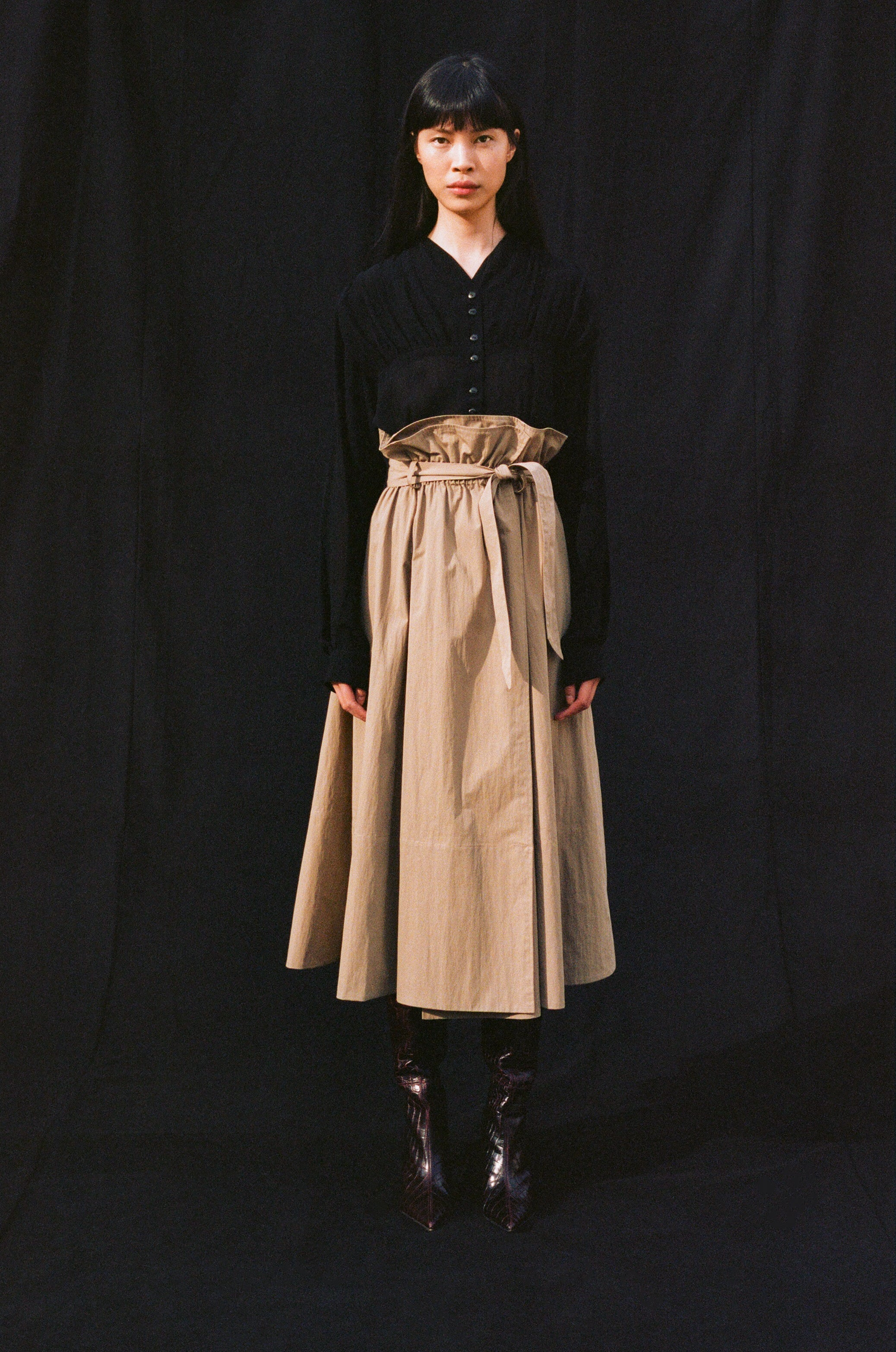 """The <a href=""""https://shainamote.com/collections/new-arrivals/products/sienna-skirt""""target=""""_blank"""">SIENNA SKIRT</a>"""