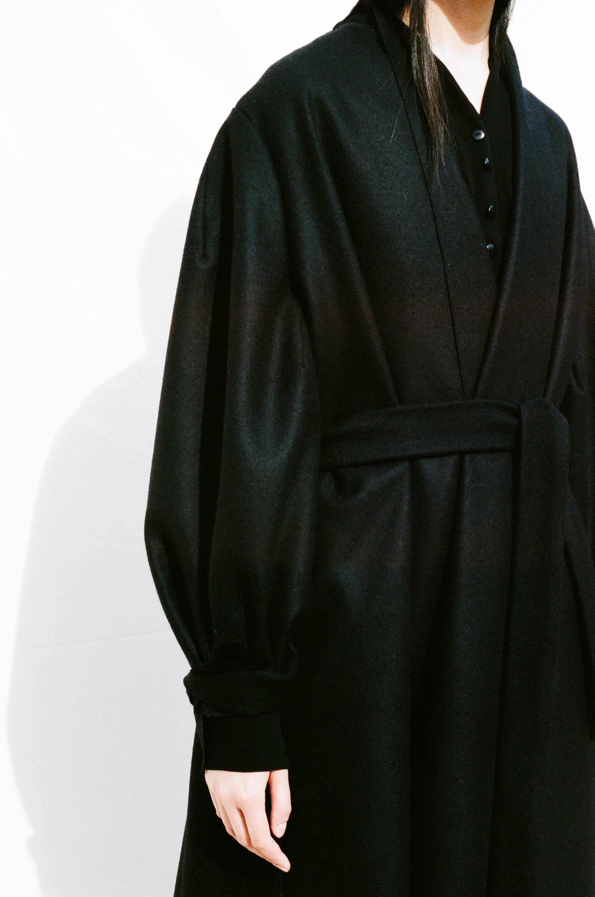 """The <a href=""""https://shainamote.com/products/sage-coat?""""target=""""_blank"""">SAGE COAT</a>"""