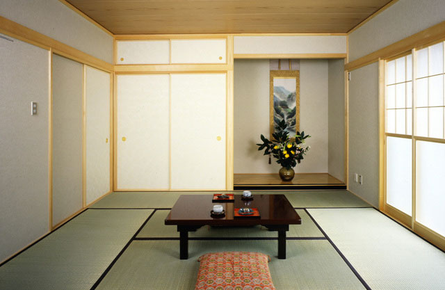 Tatami mats in use