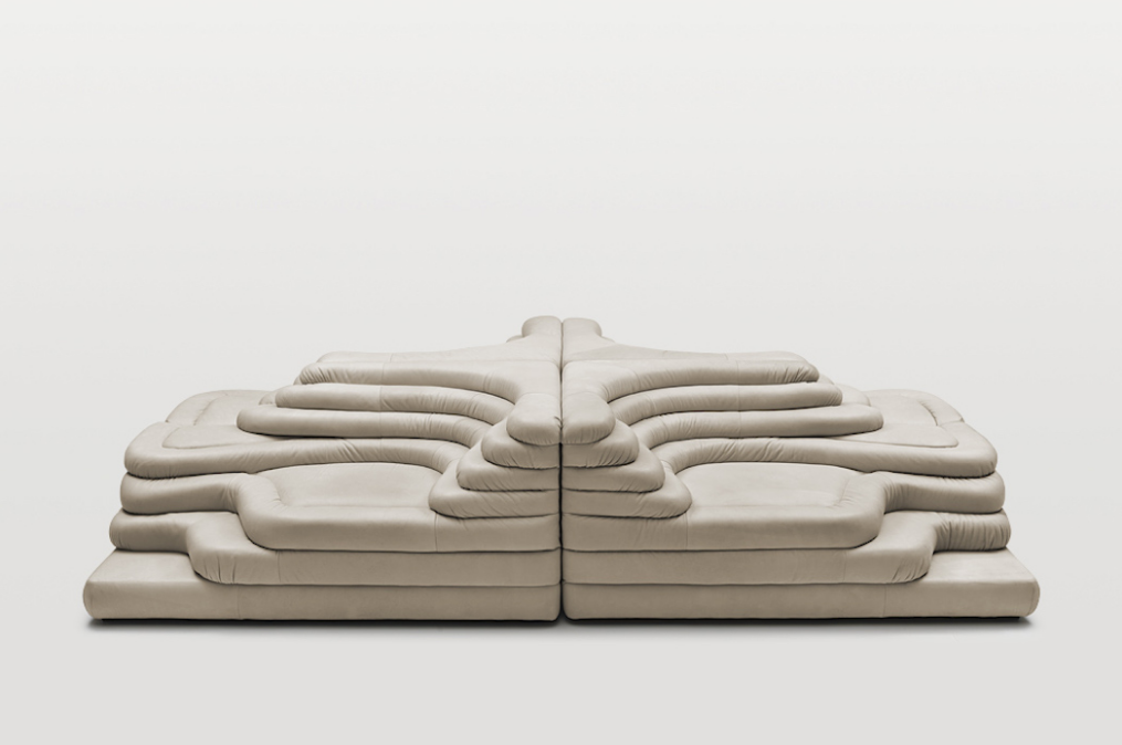 Modular Terrazza Sofa by Ubald Klug, who set out to design a piece of seating that would provide the idle lounger with a number of seating, slumping and lying positions.