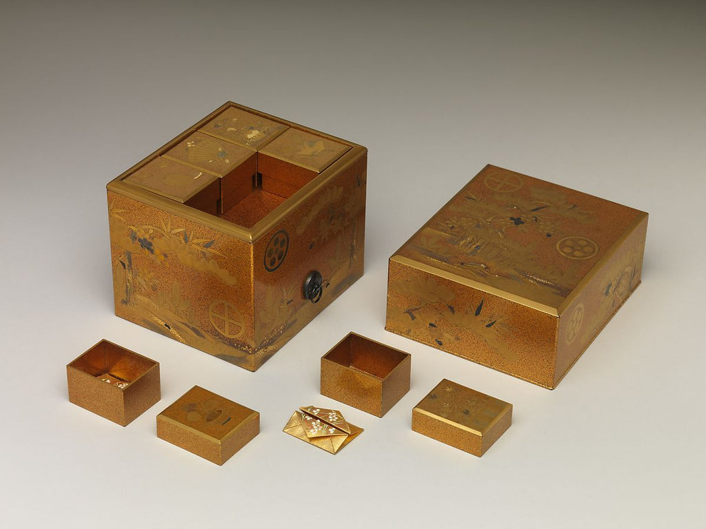<i>Incense Box with Design of Pine, Bamboo, and Cherry Blossom</i>, Japan, 19th century