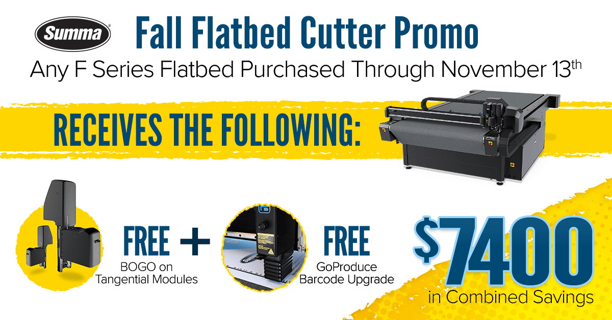 Fall Flatbed Cutter Promo