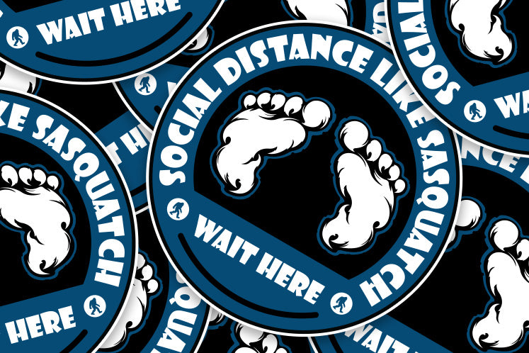 Social Distance Floor Graphic