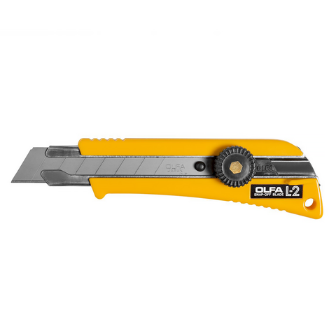 OLFA® Rubber Grip Ratchet-Lock Utility Knife (L-2)