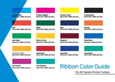 Summa DC Ribbon Color Guide Graphic