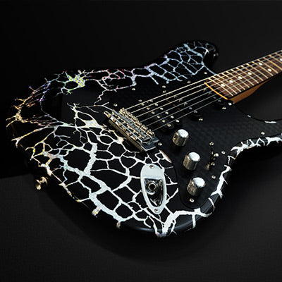 Guitar wrap graphics example for Summa vinyl cutters