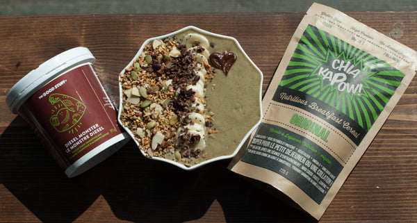 Diesel Monster Chocolate Glop KAPOW NOW! smoothie bowl