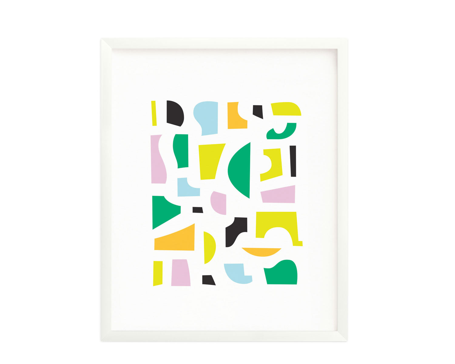 """Hillgrove"" Abstract shapes composition graphic archival giclée art print. Made in USA by My Darlin' @mydarlin_bk"