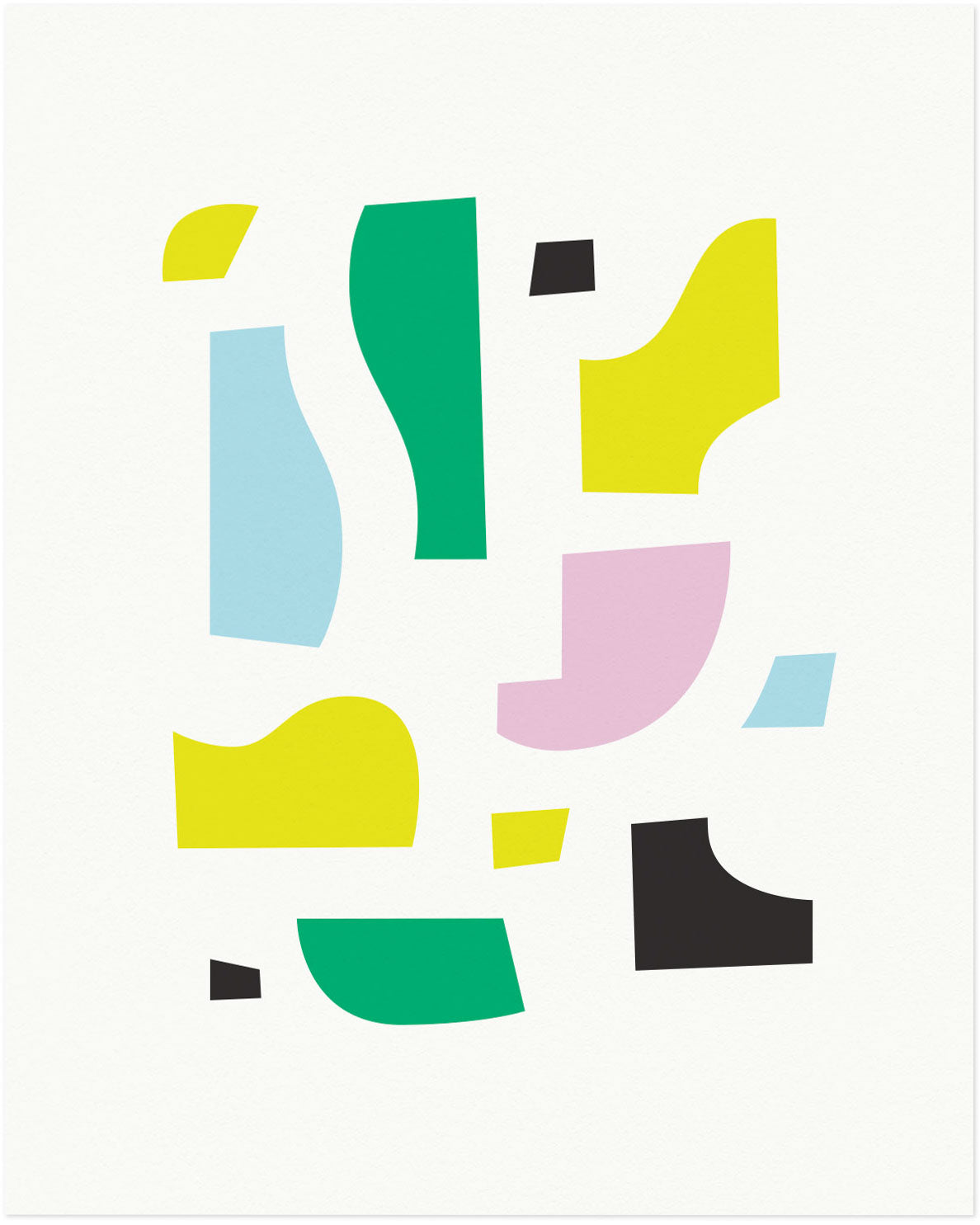 """Mrs. K"" Abstract shapes composition graphic archival giclée art print. Made in USA by My Darlin' @mydarlin_bk"
