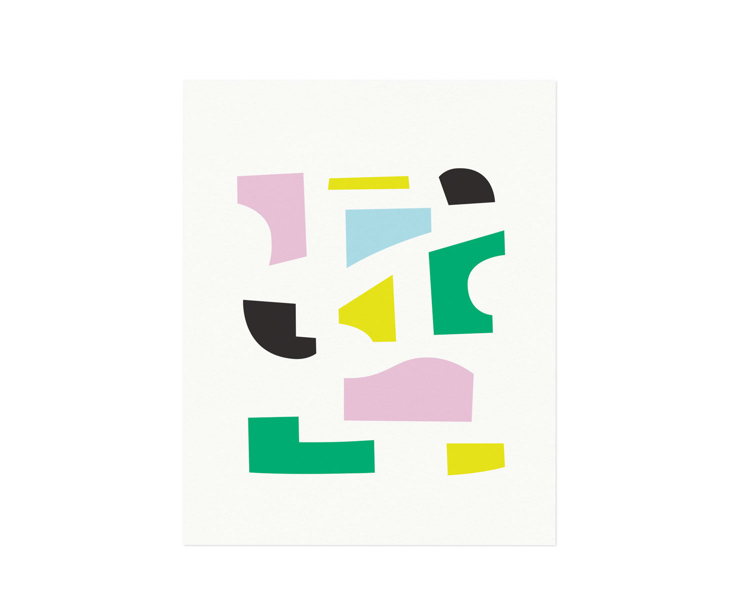 """Mrs. P"" Abstract shapes composition graphic archival giclée art print. Made in USA by My Darlin' @mydarlin_bk"