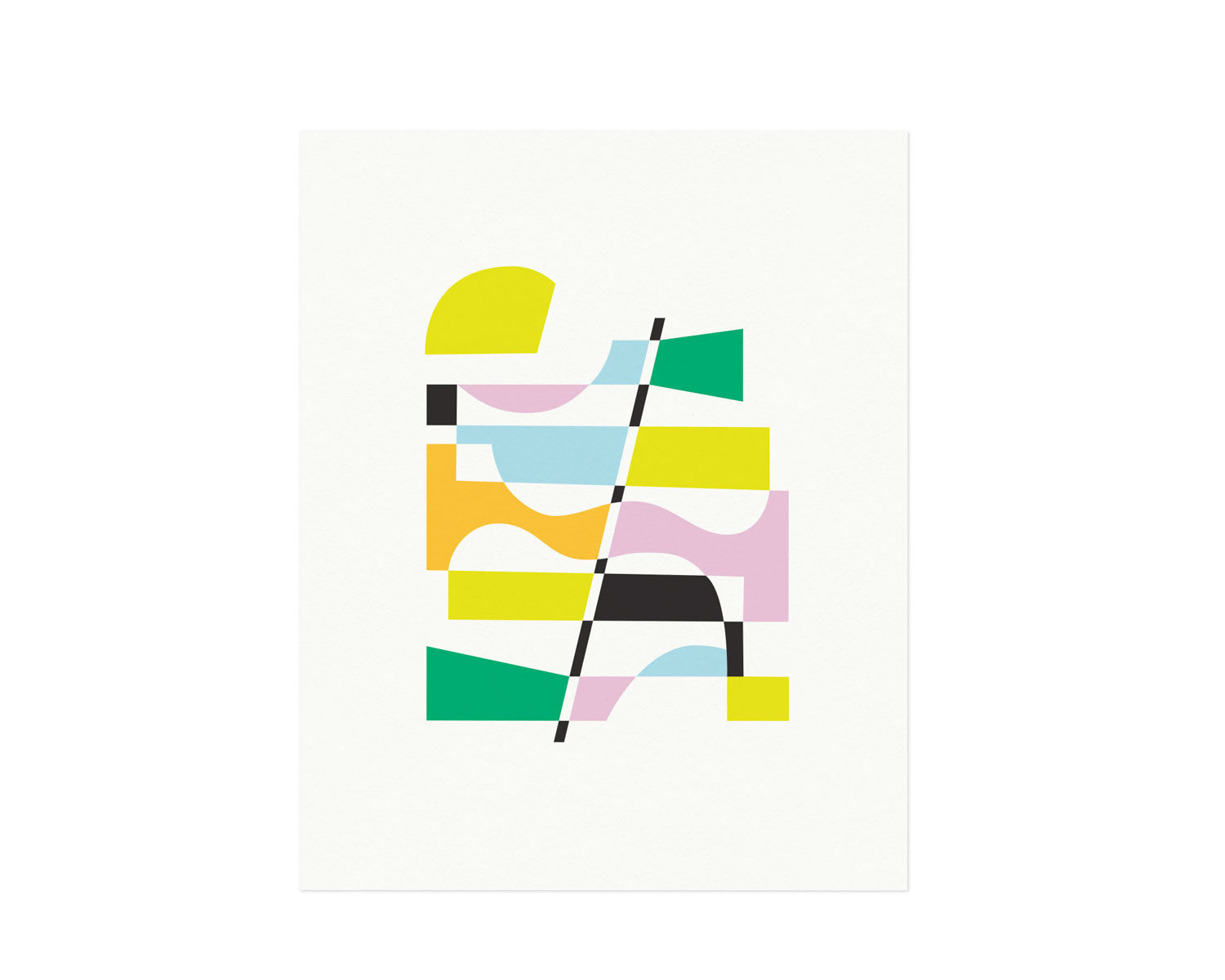 """Summer Holidays"" Abstract shapes composition graphic archival giclée art print. Made in USA by My Darlin' @mydarlin_bk"