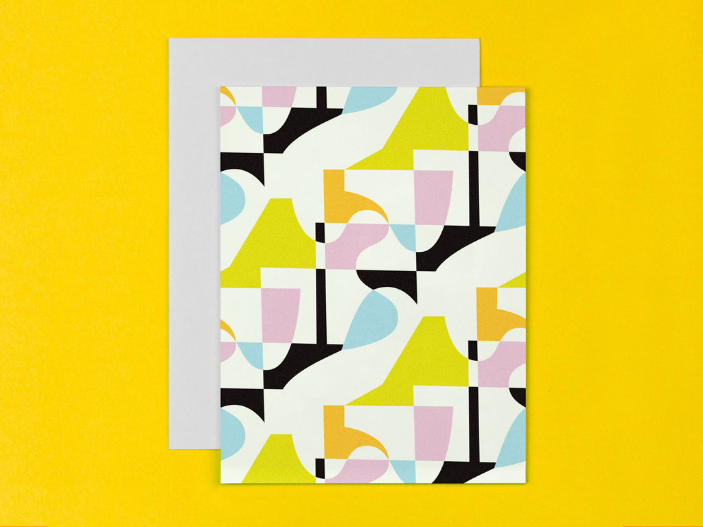 Abstract Pattern Blank Card. Made in USA by My Darlin' @mydarlin_bk