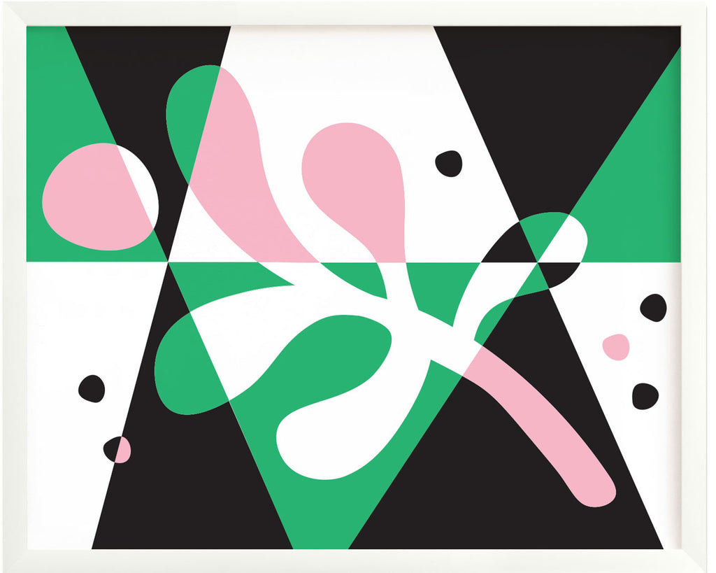 Abstract Mistletoe giclée art, midcentury modern inspired abstract holiday decor. Made in USA by My Darlin' @mydarlin_bk