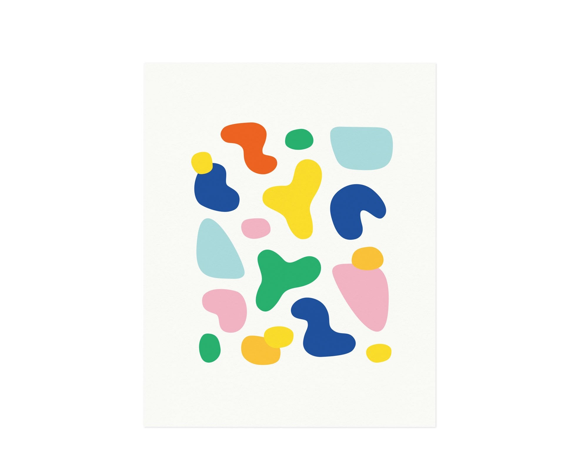"""Noki"" abstract floating shapes archival giclée art print. Made in USA by My Darlin' @mydarlin_bk"