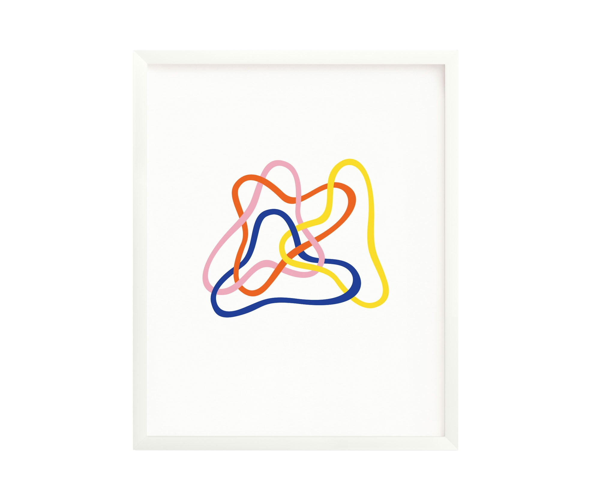 """Tangled"" graphic interwoven squiggle archival giclée art print. Made in USA by My Darlin' @mydarlin_bk"