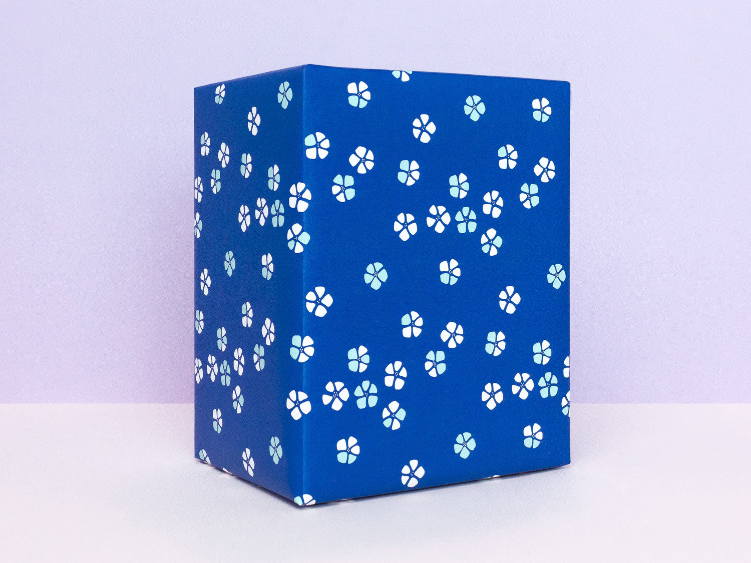 Blue floral blossoms gift wrapping sheets by My Darlin' | www.mydarl.in