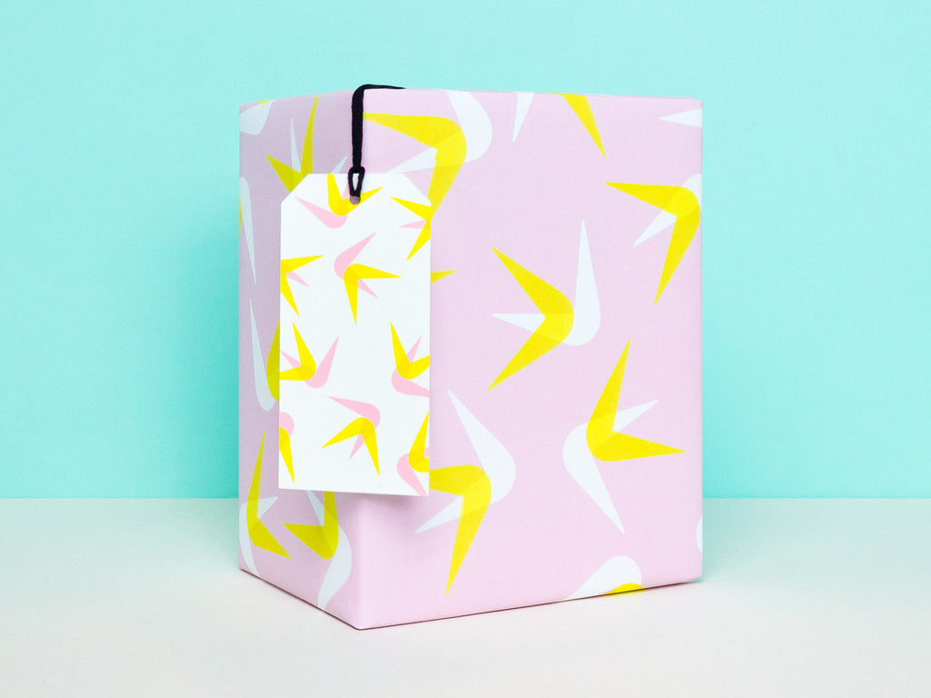 Abstract bird of paradise tropical gift wrapping sheets by My Darlin' | www.mydarl.in