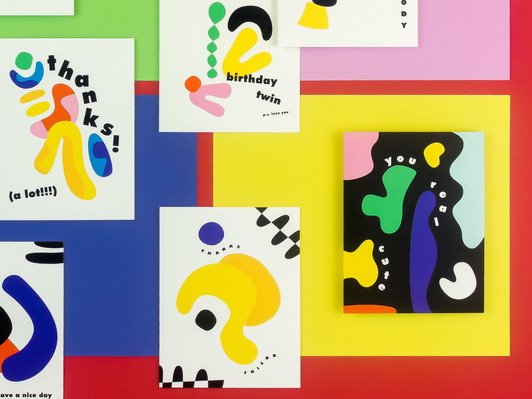 You Real Cute abstract shapes love card or baby card by My Darlin' @mydarlin_bk