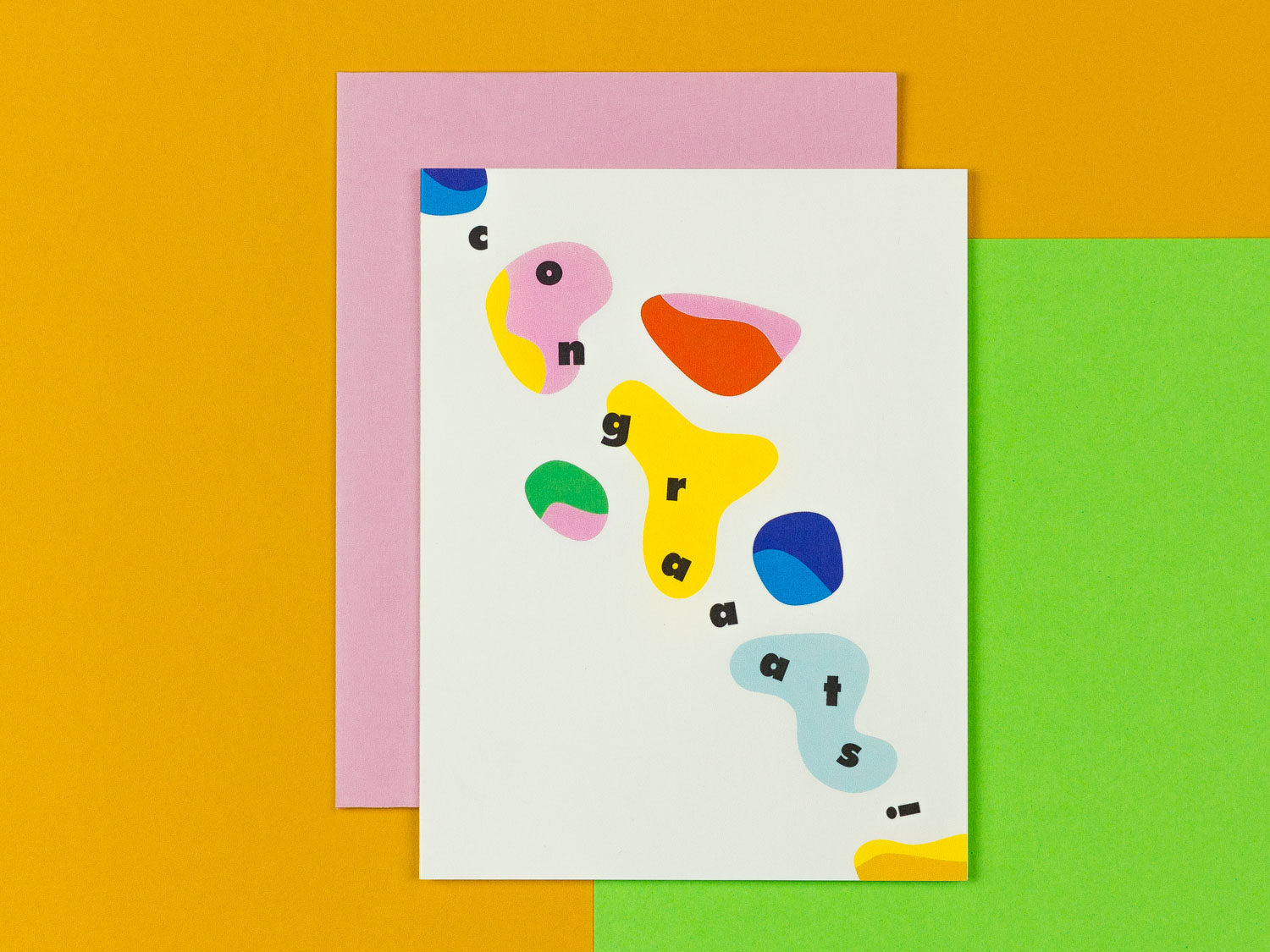 Congrats card with colorful abstract shapes by My Darlin' @mydarlin_bk