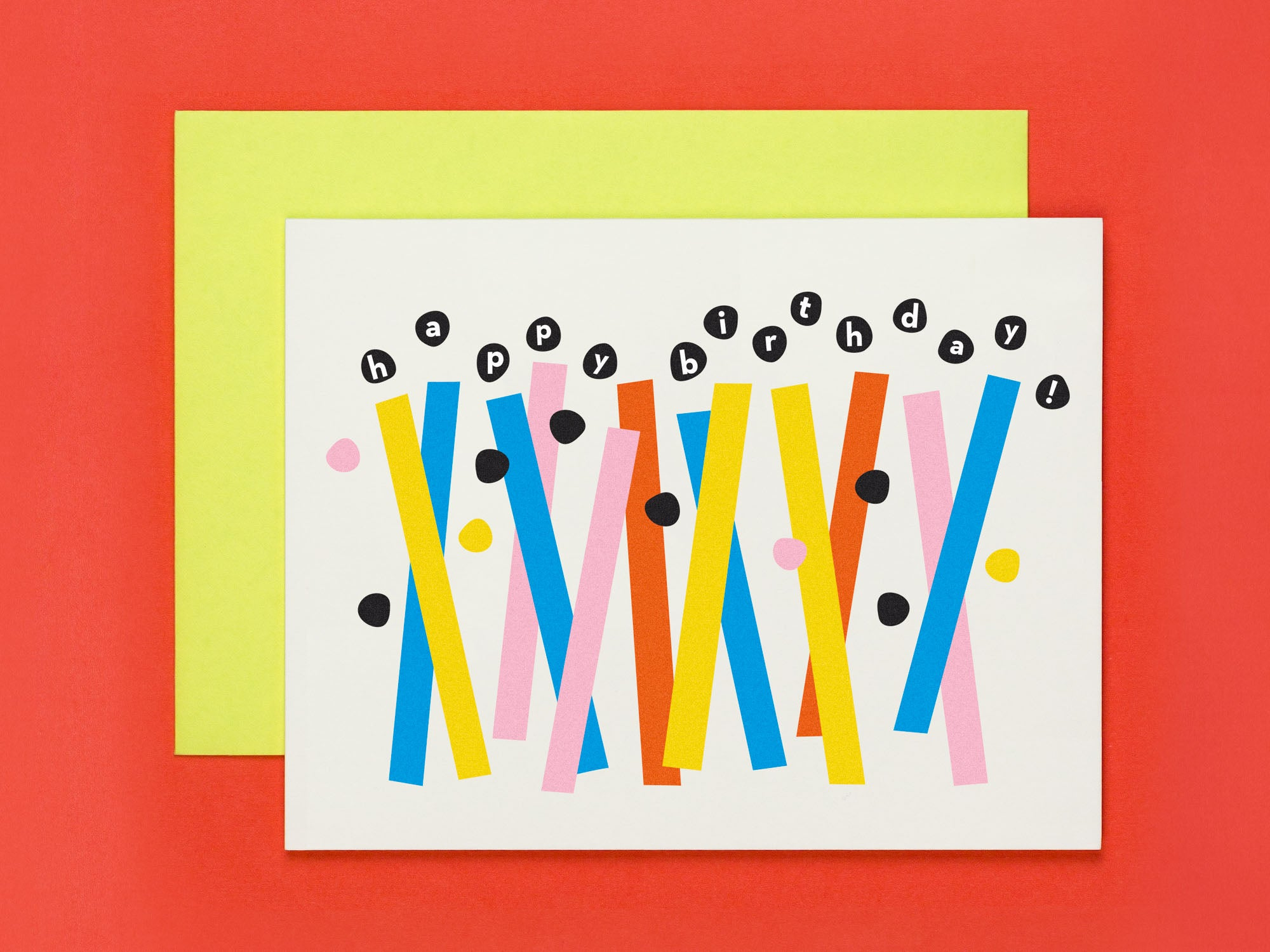Birthday Card with colorful abstract birthday candles by My Darlin' @mydarlin_bk