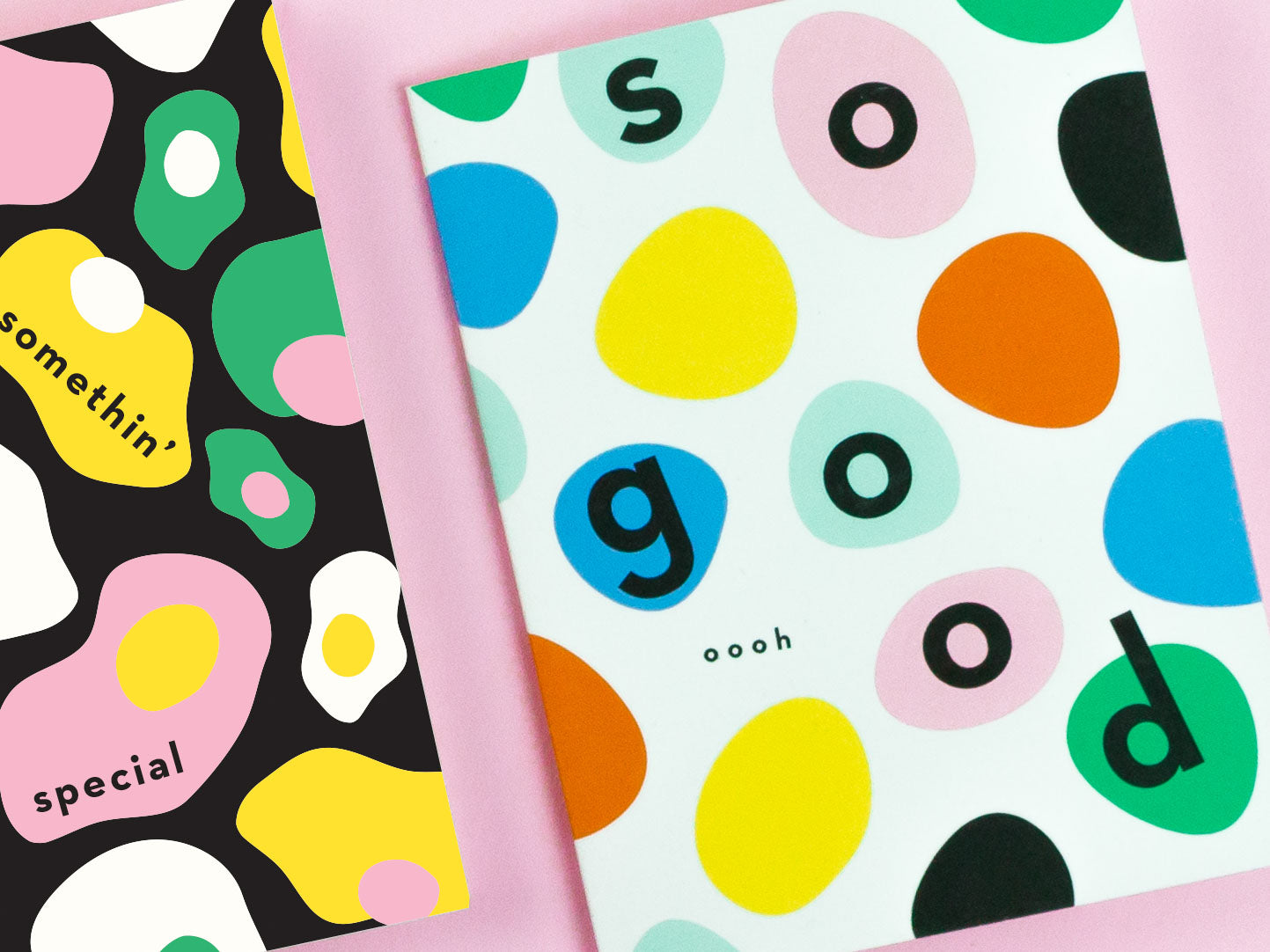 So Good colorful bouncing dots thank you card or congrats card. Made in USA by @mydarlin_bk