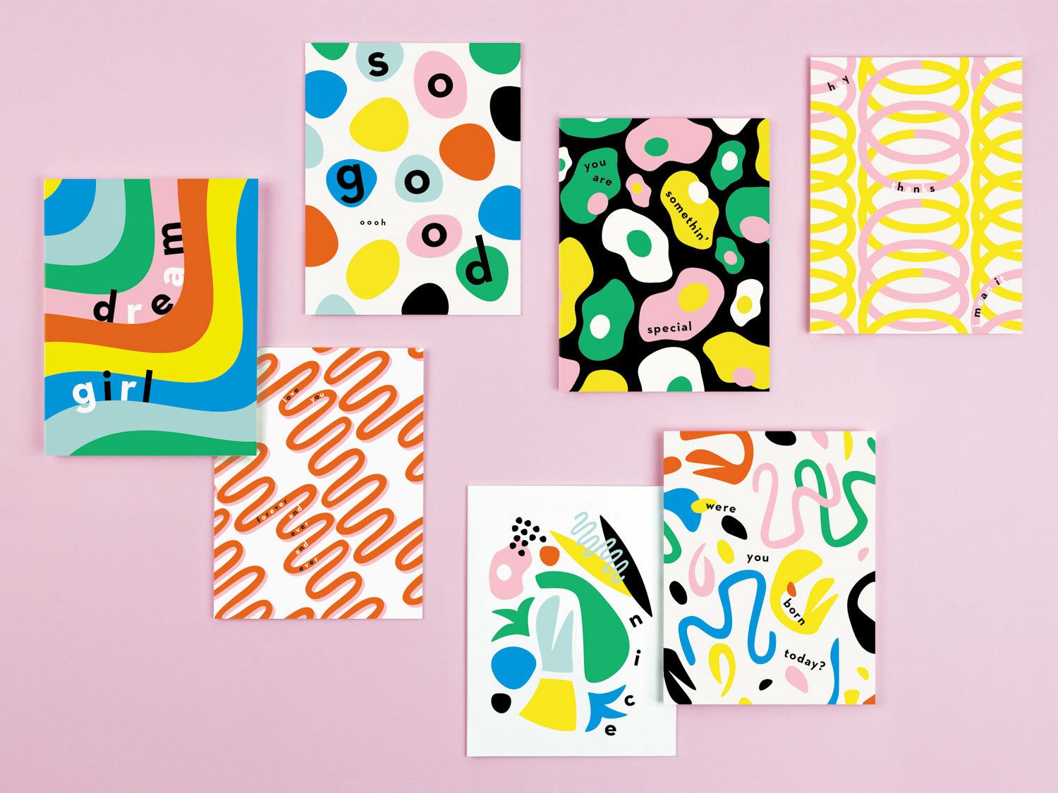 My Darlin' colorful typographic greeting cards. Made in USA by @mydarlin_bk