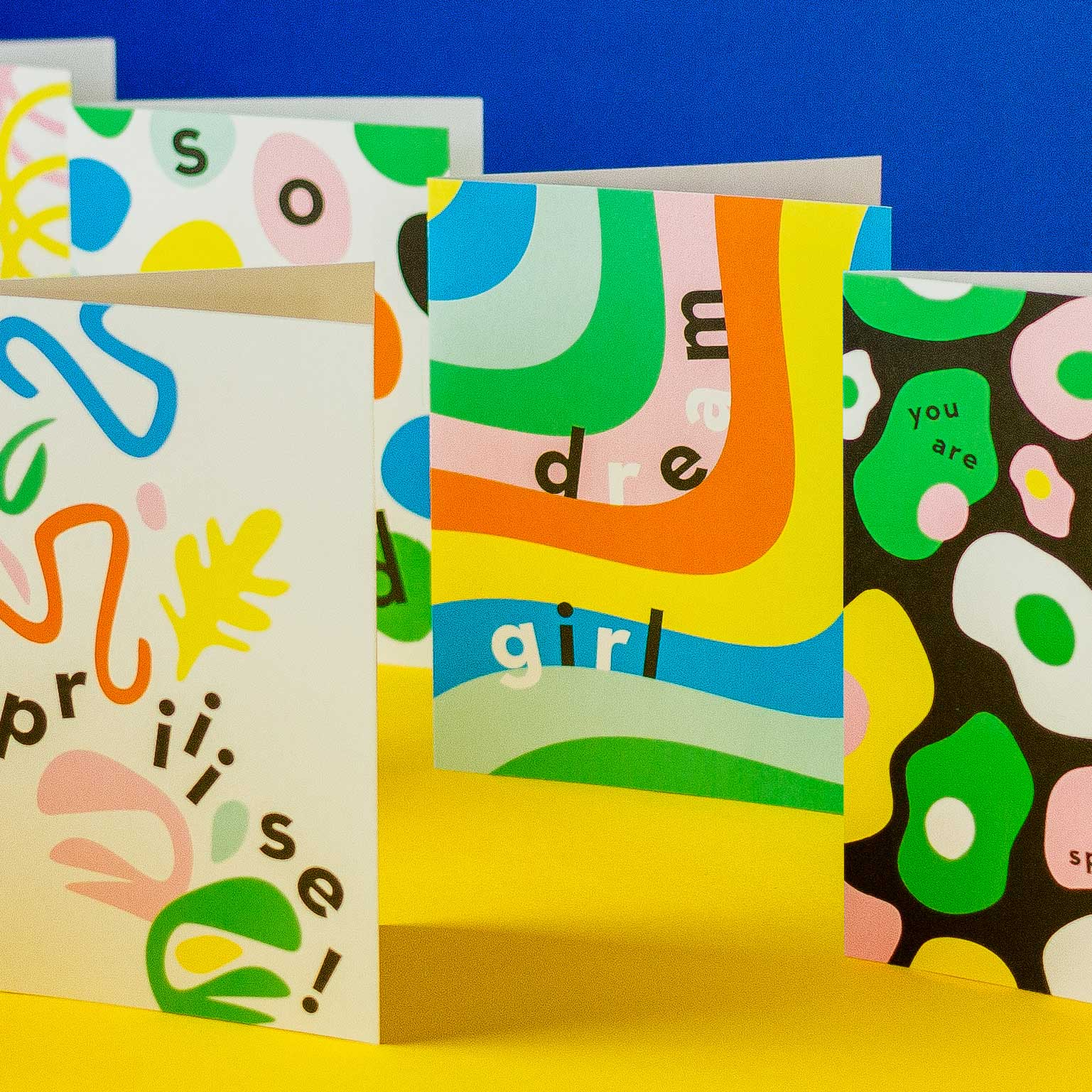 Colorful greeting cards designed in Brooklyn and Made in USA by @mydarlin_bk