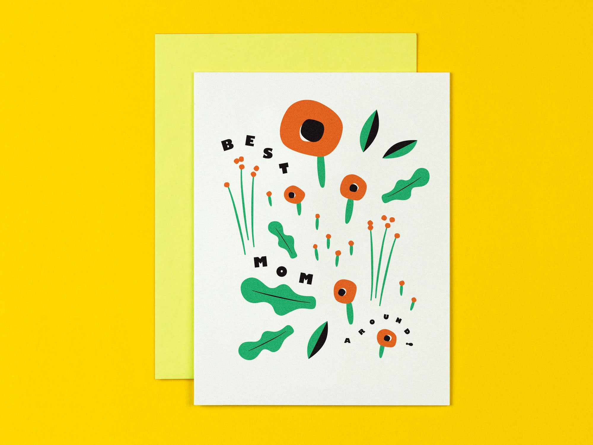Best Mom Around Floral Mother's Day Card with Poppies • Made in USA by My Darlin' @mydarlin_bk