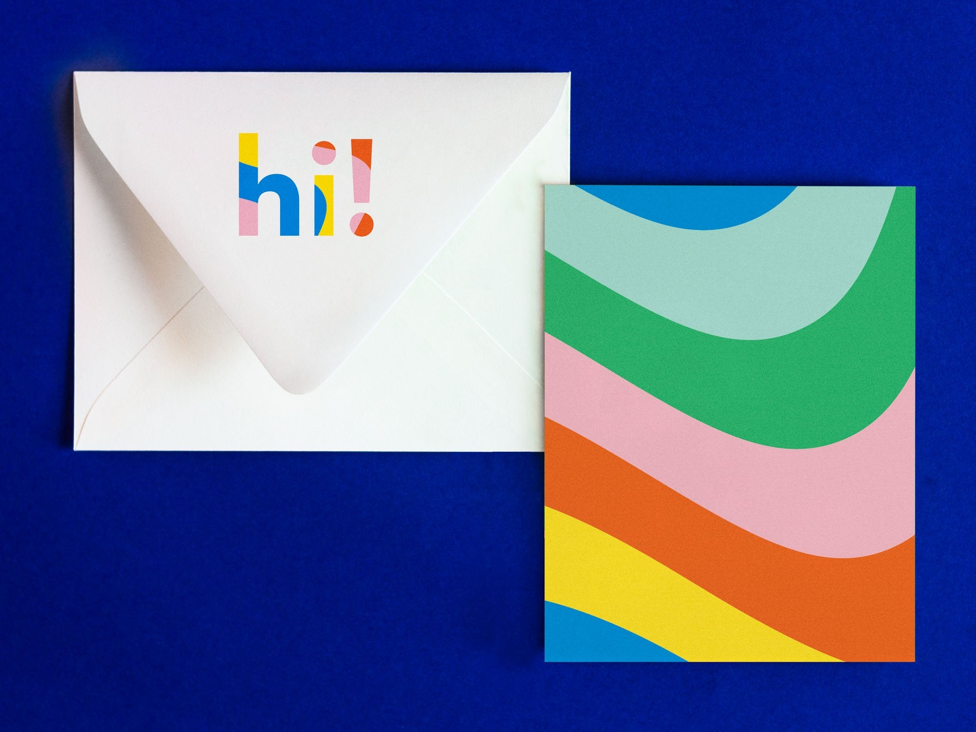 Hi Notevelope, fun hello or just because card. Blank pattern card with printed envelope • Notevelopes: The Note is on the Envelope by @mydarlin_bk