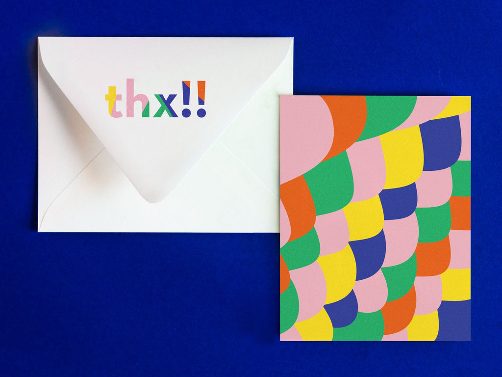 THX Notevelope, fun thank you card. Blank pattern card with printed envelope • Notevelopes: The Note is on the Envelope by @mydarlin_bk
