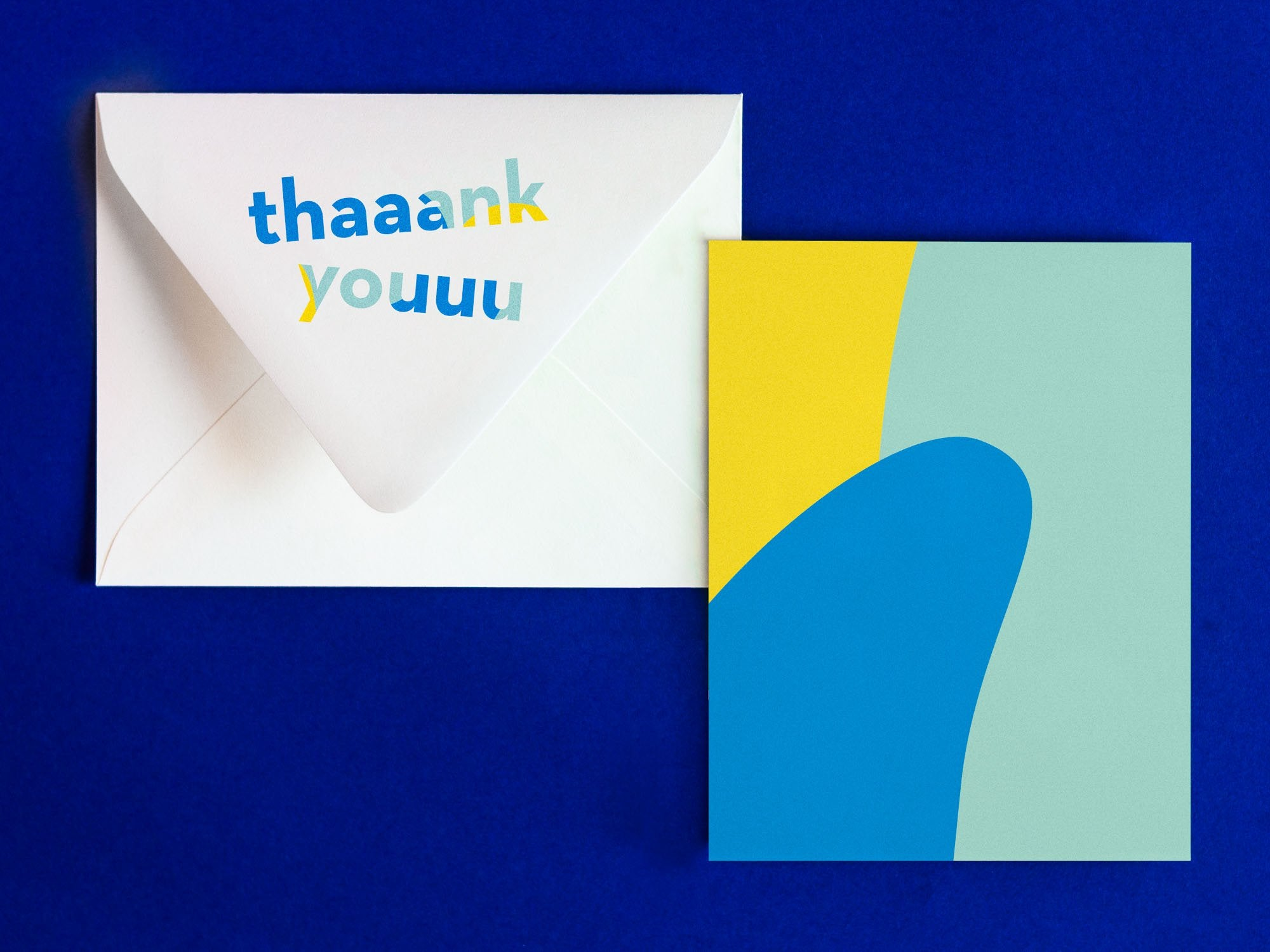 Thaaank Youuu Notevelope, fun thank you card. Blank pattern card with printed envelope • Notevelopes: The Note is on the Envelope by @mydarlin_bk